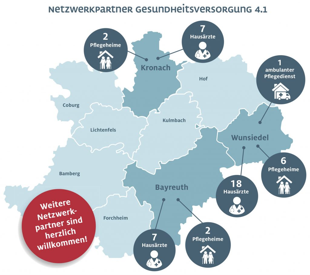 Landkarte der bisherigen Netzwerkpartner.